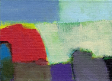Landscape bright red rock blue sky 9-15 5x7 small