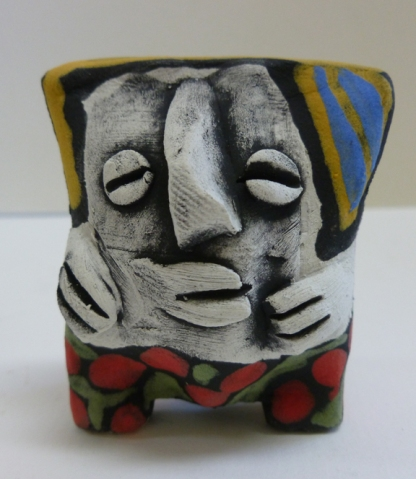 Clay sculpture puff person 7-18 front01